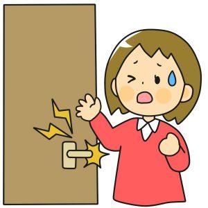 静電気が怖いドア