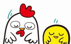 鶏とひよこの挨拶