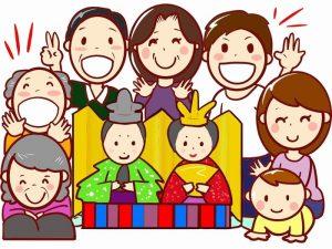 家族の楽しいひな祭り