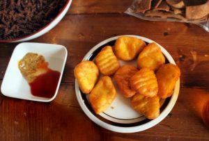 豆腐のナゲット風揚げ物